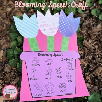 Spring Flowers Phonological Processes Speech Therapy Craft {craftivities}