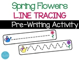Spring Flowers Pre-Writing Line Tracing