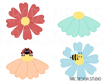 Spring Flowers SVG Cutting File - Commercial Use SVG, DXF, EPS, png