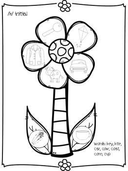 Spring Flowers Speech Freebie