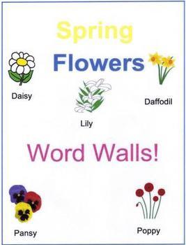 Spring Flowers Word Walls