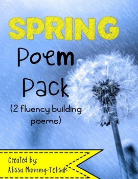 Spring Fluency Building Poems for Poetry Notebooks