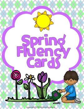 Spring Fluency Cards
