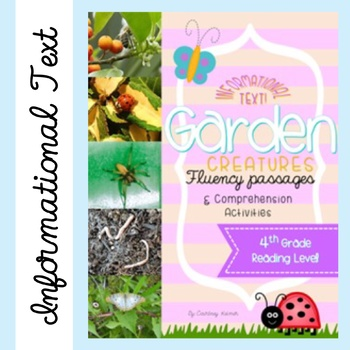 Spring Fluency Close Reading Passages & Comprehension Activities {Garden Bugs}