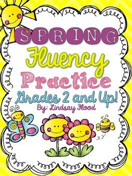 Spring Fluency {Grades 2 & Up!}