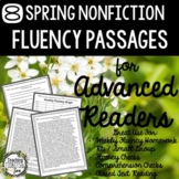 Fluency Passages for Advanced Readers - 8 Spring Themed No