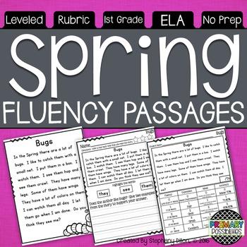 Spring Fluency Passages