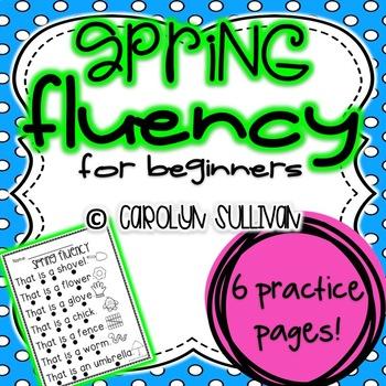 Spring Fluency Sentences for Beginning Readers