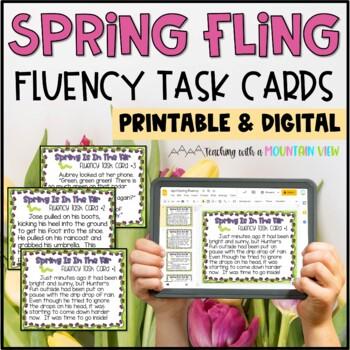 Spring Fluency Task Cards
