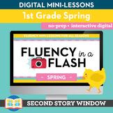 Spring Fluency in a Flash 1st Grade • Digital Fluency Mini