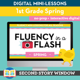 Spring Fluency in a Flash 1st Grade • Digital Fluency Mini