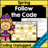 Spring Coding Unplugged - Follow the Code | Printable & Digital