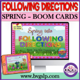 BOOM Cards Speech Therapy Spring Following Directions   Pr
