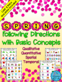 Spring Following Directions with Basic Concepts - Distance
