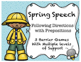 Spring Following Directions with Prepositions