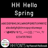 Font for Commercial or Personal Use - HH Hello Spring!