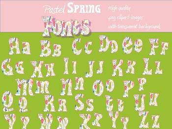 Spring Font image alphabet package