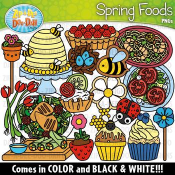 Spring Foods Clipart Set {Zip-A-Dee-Doo-Dah Designs}