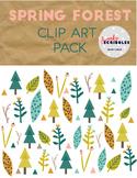 Spring Forest [Swanky Scribbles Digital Clip Art]