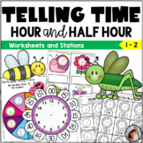 Telling Time Worksheets  Hour and Half Hour