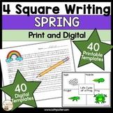 4 Square Writing Templates Spring | Four Square Writing