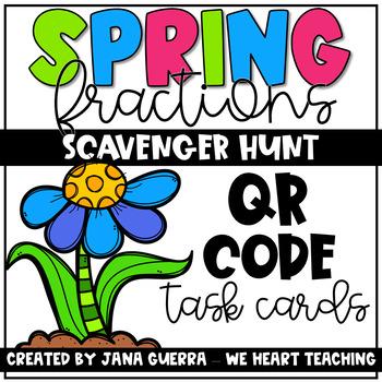 Spring Fraction Action QR Scavenger Hunt