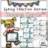 Spring Fraction Review Task Cards with Boom Cards (Digital