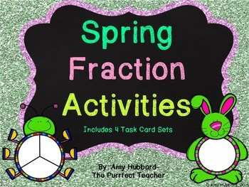 Spring Fraction Task Cards/Dry Erase Marker Activities