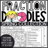 Spring Fractions Activities | Spring Fractions Color by Number