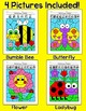 Summer Activities: Color by Fractions Bumble Bee, Butterfly, Ladybug, Flower