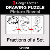 Spring: Fractions of a Set - Drawing Puzzle   Google Forms