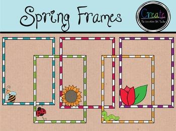 Spring Frame Set - Digital Cliparts