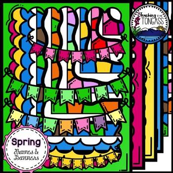 Spring Frames & Banners Clipart Bundle