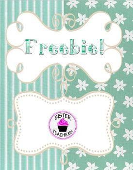 Spring Frames and Digital Paper Freebie
