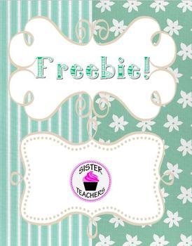 Spring Frames and Digital Paper Freebie