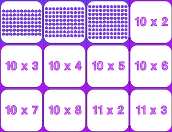 FREE Spring Activity: Multiplication Facts Memory Game