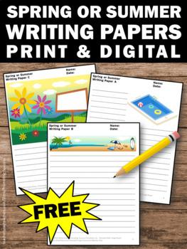 FREE Spring Writing Paper