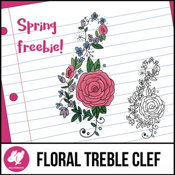 Spring Freebie!  - Floral Treble Celf