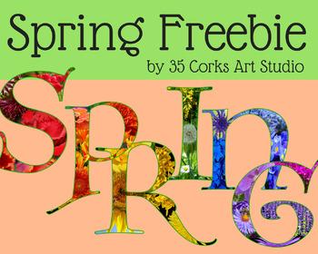 Spring Freebie - Flower Letters
