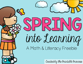 Spring Freebie - Spring into Learning!