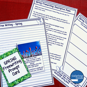 Spring Freewriting Prompt Cards
