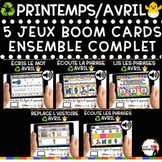 Spring French BOOM Cards - BUNDLE 5 Jeux (PRINTEMPS - AVRIL)
