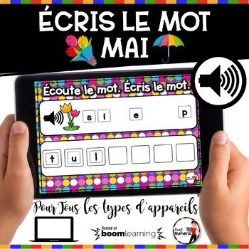 Spring French BOOM Cards - BUNDLE 5 Jeux (PRINTEMPS - MAI)