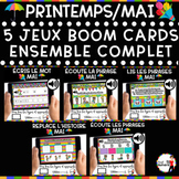 Spring French BOOM Cards - BUNDLE 5 Jeux (PRINTEMPS - MAI)