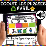 Spring French BOOM card - Écoute et replace les phrases (A