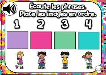 Spring French BOOM card - Écoute et replace les phrases (MAI : Jeu 5)