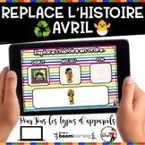 Spring French BOOM card-Replace l'histoire en ordre. (AVRI