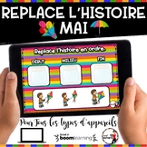 Spring French BOOM card-Replace l'histoire en ordre. (MAI