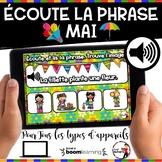 Spring French BOOM cards - Écoute et lis la phrase. (MAI : Jeu 2)