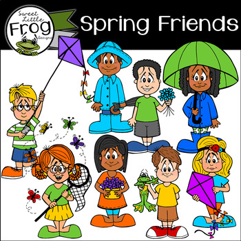 Spring Friends Clip Art